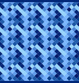 geometrical square pattern background - blue vector image vector image