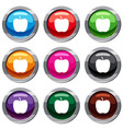 glossy apple set 9 collection vector image vector image