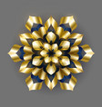 golden luxury background gold snowflake vector image vector image