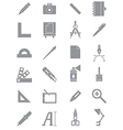 Gray design icons set vector image vector image