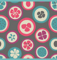 grunge slice of fruits seamless pattern vector image