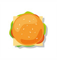 hamburger isolated on white background vector image vector image
