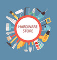 hardware store banner vector image vector image