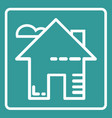 icon home on web vector image vector image