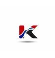 Letter K logo vector image vector image