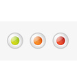light buttons with green orange and red color vector image vector image
