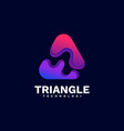 logo triangle gradient colorful style vector image