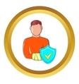Man with broken arm icon vector image vector image