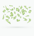 many dollars currency falling down vector image