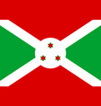 national flag republic of burundi vector image vector image