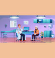 old woman in doctor office room on consultation vector image