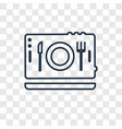 on linear icon isolated on transparent background vector image