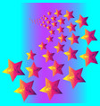 pattern stars in disco style vector image