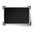 Photo frame with one not fixed corner vector image vector image