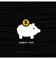 Pig a coin box vector | Price: 1 Credit (USD $1)