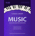 poster music concert concept template vector image
