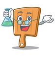 professor kitchen board character cartoon vector image vector image