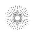 rays symbol vector image