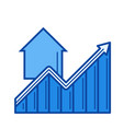 real estate market growth line icon vector image vector image