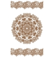Round brown mandala vector image