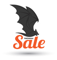 Sale text with bat for halloween vector image vector image