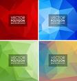 set geometric polygonal backgrounds vector image