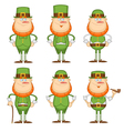 set leprechaun vector image