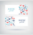 set of two yacht club banners vector image vector image
