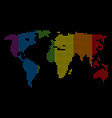 spectrum dot lgbt world map vector image vector image