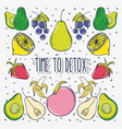 time to detox vector image