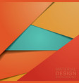 unusual modern material design background vector image