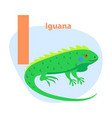 zoo abc letter with cute iguana cartoon vector image vector image
