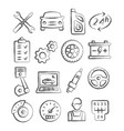 auto service doodle icons vector image