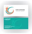 swirl star company logobusiness card vector image