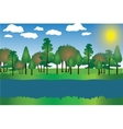 Landscape Cartoon with Trees vector image