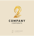2 company logo design with white background vector image vector image