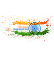 abstract indian flag design made with ink splatter vector image