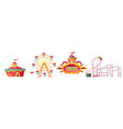amusement park carnival or festive fair cartoon vector image