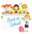 back to school with pupils vector image vector image
