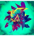 Background Geometric Abstract Shape vector image vector image