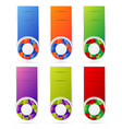 banners set with cubbes form vector image vector image