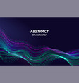 beautiful sound waves 3d shaped array blended vector image vector image