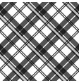 black and white fabric texture check tartan vector image vector image