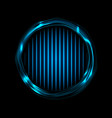 blue glowing electric rings and neon lines vector image vector image