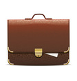 brown leather briefcase vector image