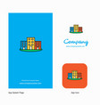 buildings company logo app icon and splash page vector image