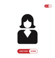 business woman icon femaleavatar symbol vector image vector image