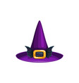 cartoon witch hat icon cap with bat wings vector image vector image