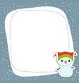 christmas and new year greeting card christmas vector image vector image