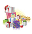 christmas gifts santa concept vector image vector image